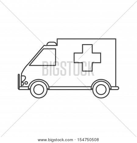 Ambulance icon. Medical and health care theme. Isolated design. Vector illustration