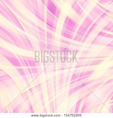 Abstract pastel background with smooth lines. Color waves, pattern, art, technology wallpaper, technology background. Vector illustration. Pastel pink, yellow colors