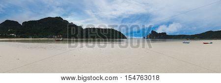 Panoramic view of beautiful Koh Phi Phi island from Phi Phi, Krabi Province, Thailand