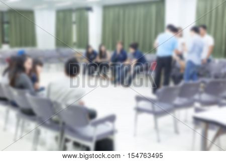 Image Blur, Activity Of People Relationship Meeting In Office