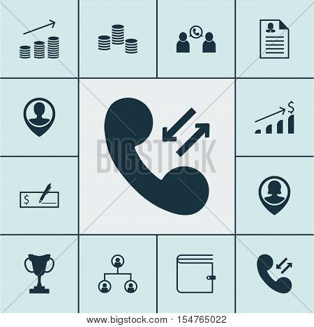 Set Of Hr Icons On Bank Payment, Pin Employee And Cellular Data Topics. Editable Vector Illustration
