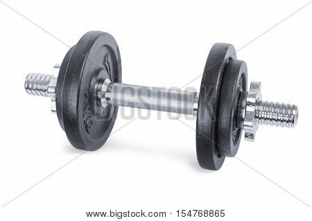 Dumbbells isolated on a white background. Fitness concept.