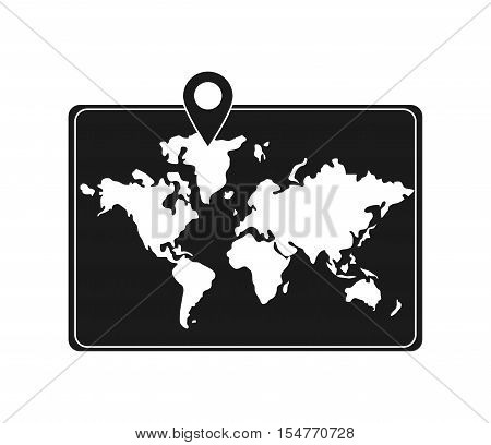 Map and cartography icon. Travel trip vacation and tourism theme. Isolated design. Vector illustration