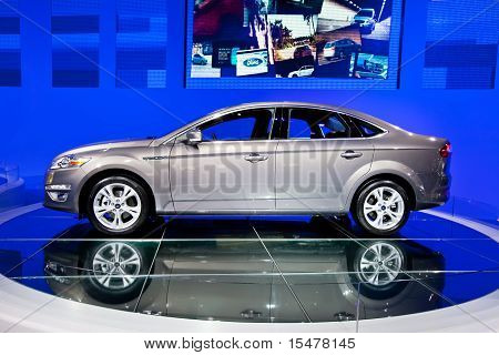 Moscow, Russia - August 25:  Grey Car Ford Focus At Moscow International Exhibition Interauto On Aug