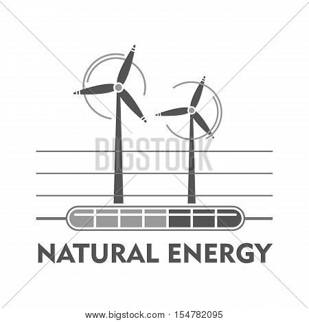 Vector illustration of a template for a business or company sign on environmental issues in two colors black and white