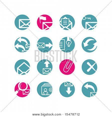 circle e-mail icons