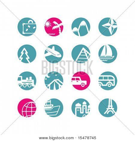 circle travel icons