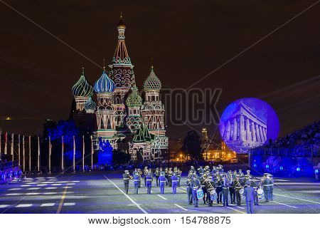 RUSSIA MOSCOW - AUGUST 26 2016: A festival of military orchestras