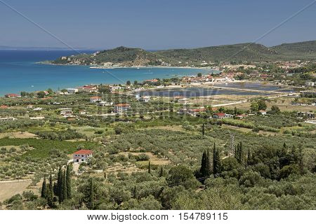 The area of Alykes (salt pans) in the island of Zakynthos Greece