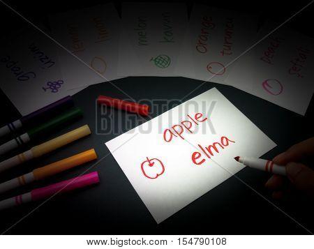Making Language Flash Cards; Turkish
