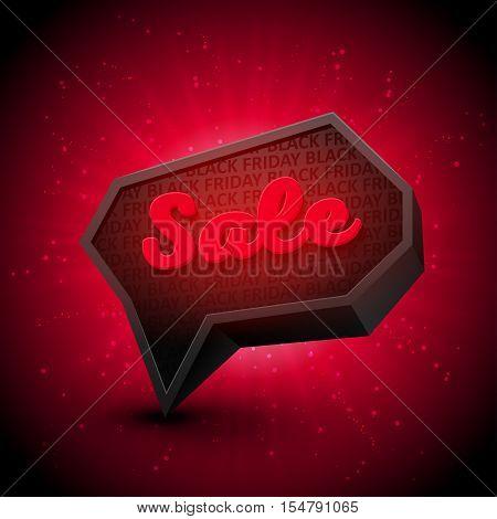 Black Friday Sale banner with red burst, splash on background. Ready for your design, website, advertising. Vector EPS10.