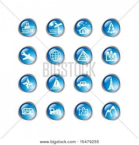 blue drop travel icons