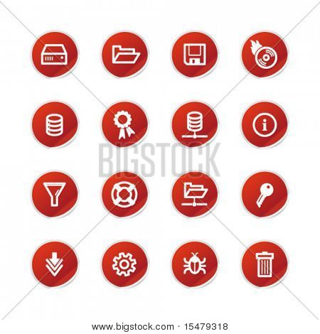 red sticker server icons