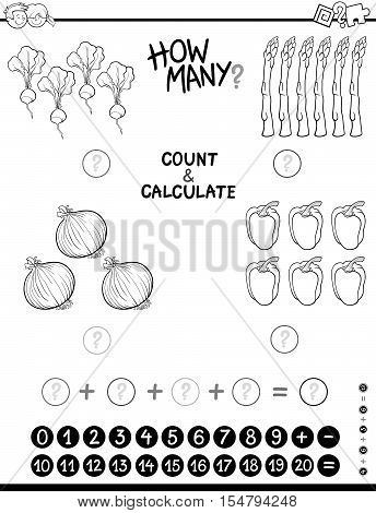 Maths Task Coloring Page