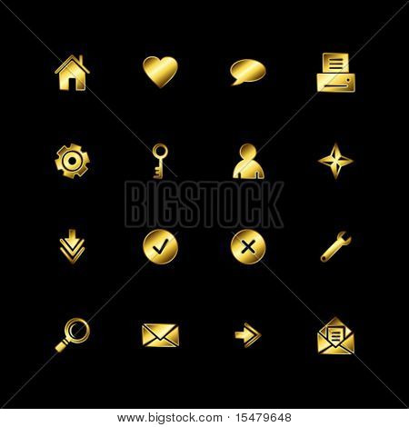 Gold web icons