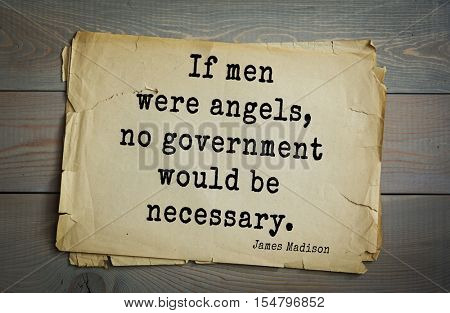 Top 25 quotes by James Madison Jr. - political theorist, American statesman,  fourth President of United States. 