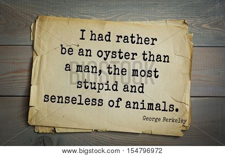 Top 5 quotes by George Berkeley - Irish philosopher. 