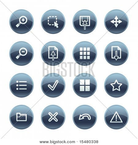 Mineral drop image viewer icons