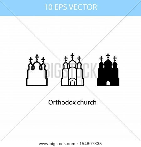 Vector illustration of Orthodox Church vector eps 10 icon