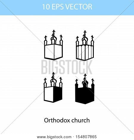 Vector illustration of Orthodox Church, vector eps 10 icon