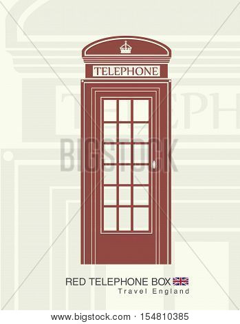 figure of a red telephone booth in England