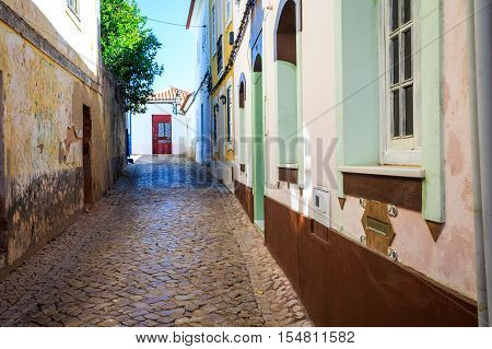 Charming Street In Old Town Of Silves, Portugal