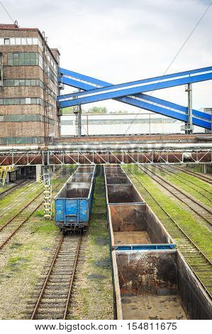 Mining infrastructure in Laziska Gorne Silesia Poland