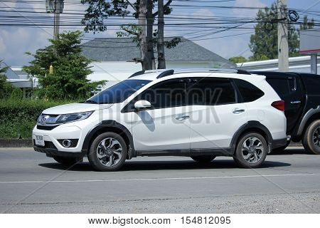 CHIANGMAI THAILAND - OCTOBER 9 2016: Private New suv car Honda BRV. On road no.1001 8 km from Chiangmai Business Area.
