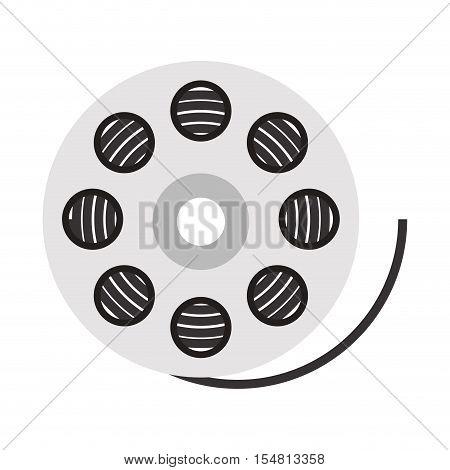 movie film reel icon over white background. cinema design. vector illustration