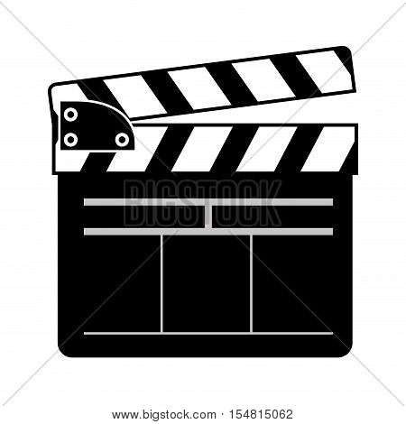 silhouette of movie clapboard icon. cinema design. vector illustration