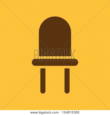 The luminodiode icon. Lamp and bulb, lightbulb, CFL, led lamp symbol.UI. Web. Logo. Sign. Flat design. App. Stock vector