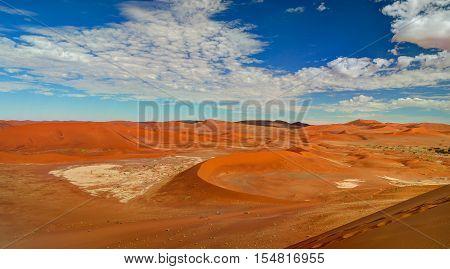 Sand dunes Namib-Naukluft national park in Namibia