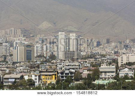 Teheran, Iran - October 05, 2016: View From The Milad Tower In Tehran, Iran.