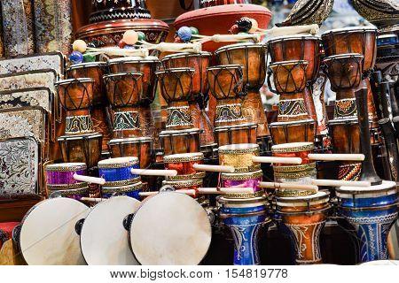 The Image Of Ethnic Turkish Drum Darbuka