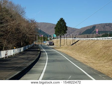 Mountain Road In Japan