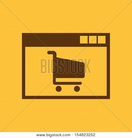 Online shopping icon. vector design. e-commerce, shopping symbol. web. graphic. JPG. AI. app. logo. object. flat. image. sign. eps. art. picture - stock vector
