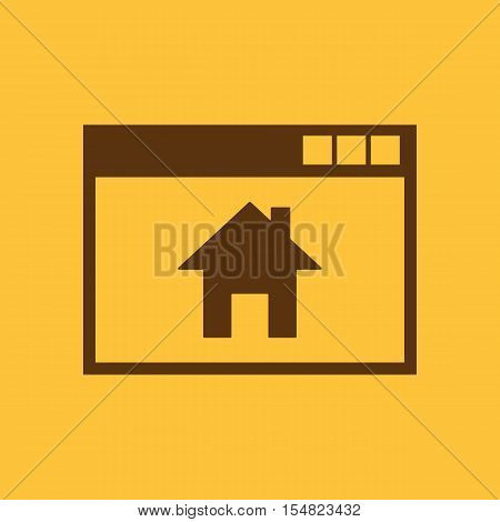 Homepage icon. vector design. Home, Homepage symbol. web. graphic. JPG. AI. app. logo. object. flat. image. sign. eps. art. picture - stock vector