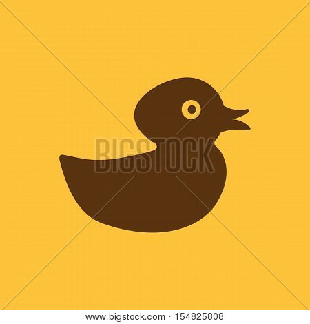 Duck icon. design. Toy and animal, Duck symbol. web. graphic. AI. app. logo. object. flat. image. sign. eps. art. picture - stock vector