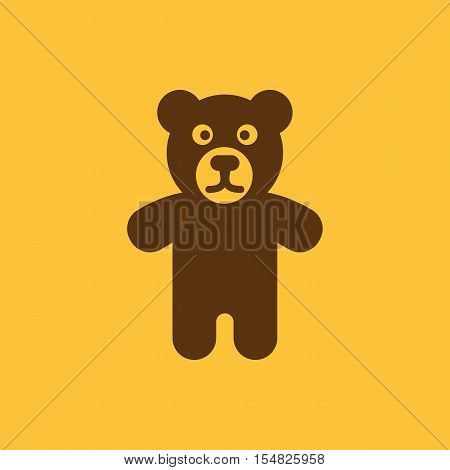 Bear icon. design. Toy, Bear symbol. web. graphic. AI. app. logo. object. flat. image. sign. eps. art. picture - stock vector