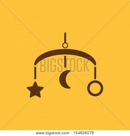 Baby bed carousel icon. design. Toy, carousel symbol. web. graphic. AI. app. logo. object. flat. image. sign. eps. art. picture - stock vector