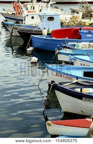 Cetara, ITALY 2016 - The harbour and the fishing boats