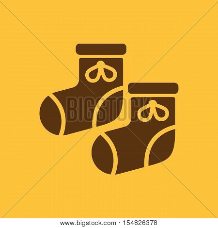 Babys bootees icon. design. Socks, sox, Babys bootees symbol. web. graphic. AI. app. logo. object. flat. image. sign. eps. art. picture - stock vector