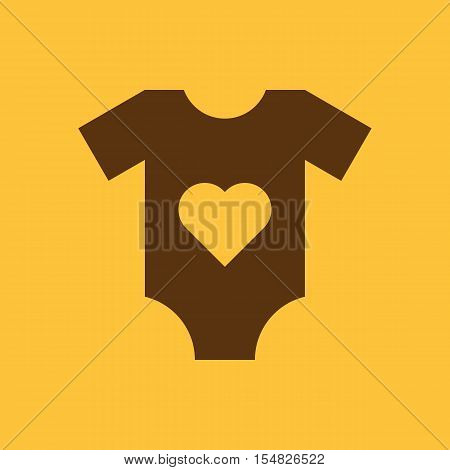 Romper suit icon. design. Shirt, clothes, Romper suit symbol. web. graphic. AI. app. logo. object. flat. image. sign. eps. art. picture - stock vector
