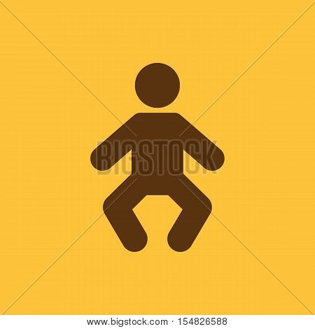 Baby icon. design. Child, kid, infant, babe, suckling, cheeper, babbie, Baby symbol. web. graphic. AI. app. logo. object. flat. image. sign. eps. art. picture - stock vector