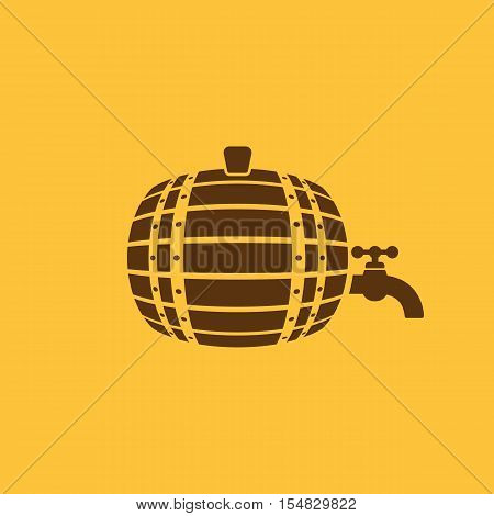 The Barrel icon. Cask and keg, beer, Barrel symbol. UI. Web. Logo. Sign. Flat design. App. Stock vector