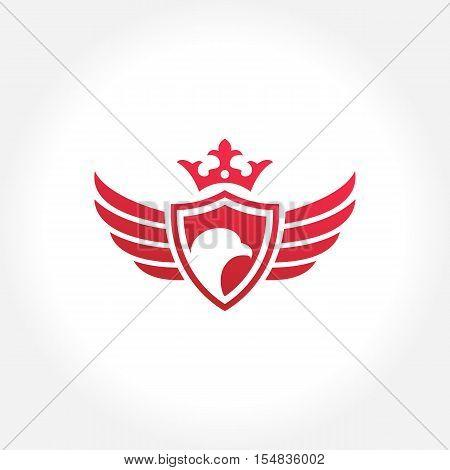 Royal Eagle, Royal Hawk Emblem, Vector illustration Concept