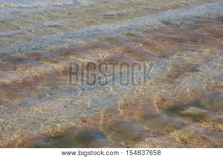 H2O, shallow water in the salt lake
