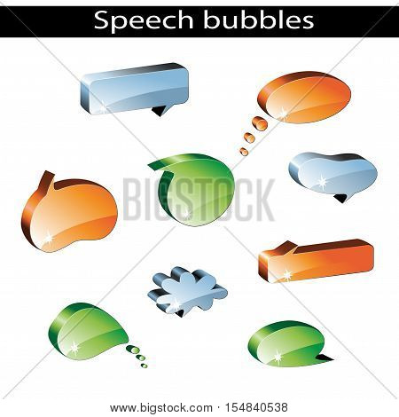 Vector set of speech bubbles on white background