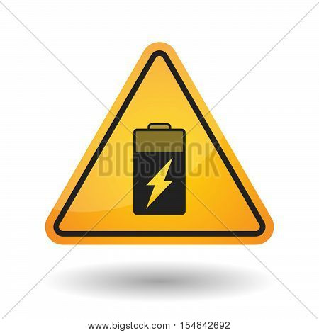Isolated Danger Signal Icon With A Battery