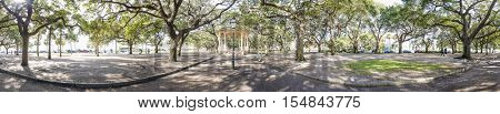 300 degree panorama of The Battery in downtown Charleston, South Carolina